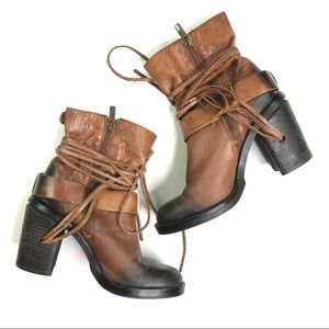 Vince Camuto Shoes - Vince Camuto Brown Leather Silas Booties Size 6